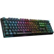 Roccat® Suora FX Wired USB RGB Illuminated Frameless Mechanical Gaming Keyboard, Black/Blue (ROC-12-251-BE)