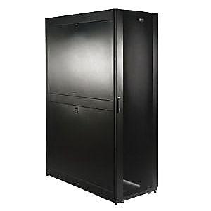Tripp Lite® SmartRack 42U Deep Rack Enclosure Server Cabinet with Doors & Side Panels, Black (SR42UBDP)