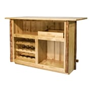 Loon Peak Tustin Wooden Bar w/ Wine Storage