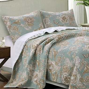 Barefoot Bungalow Naomi Spa Quilt Set; Full/Queen