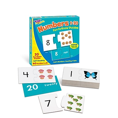 Trend Enterprises Fun-To-Know Puzzle, Numbers 1 - 20, 40/Pack (T36003)