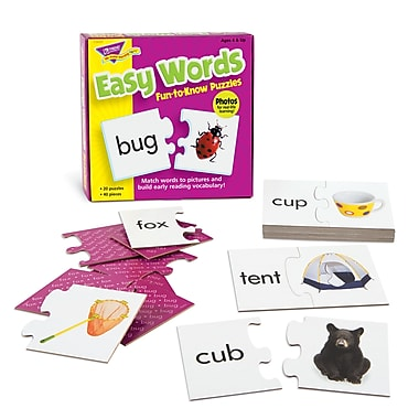 Trend Enterprises® Fun-to-Know Puzzle, Easy Words