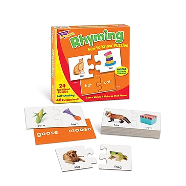Trend Enterprises Fun-To-Know Puzzle, Rhyming, 48/Pack (T-36009)