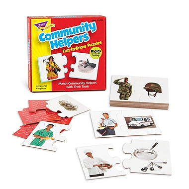 Trend Enterprises® Fun-to-Know Puzzle, Community Helpers