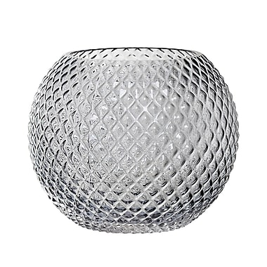 Bloomingville Round Hobnail Glass Table Vase; 7.84'' H x 9.84'' W x 9.84'' D