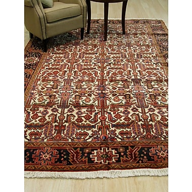 Eastern Rugs Heriz Hand-Knotted Ivory Area Rug