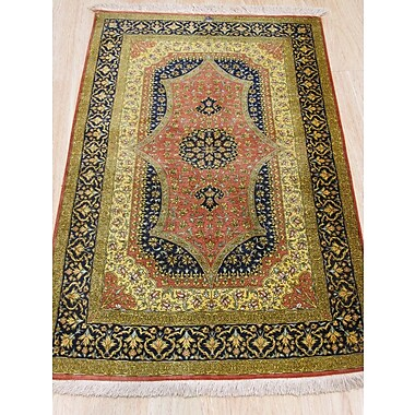 Eastern Rugs Qum Hand-Knotted Rust Area Rug