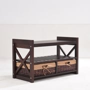 Greenville Signature Harmony Wood Storage Entryway Bench