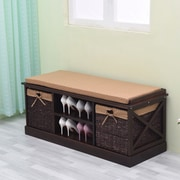 Greenville Signature Wood Storage Entryway Bench