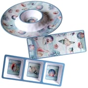 Certified International Ocean Dream 3 Piece Heavy Weight Melamine Hostess Set