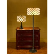 SerenaD'Italia Tiffany Contemporary 2 Piece Table and Floor Lamp Set