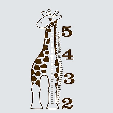 SweetumsWallDecals 'Giraffe Growth Chart' Wall Decal; Brown
