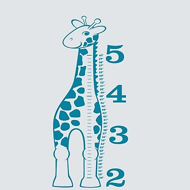 SweetumsWallDecals 'Giraffe Growth Chart' Wall Decal; Teal