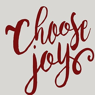 SweetumsWallDecals Choose Joy Wall Decal; Cranberry