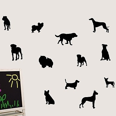 SweetumsWallDecals Dog Wall Decal; Black