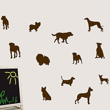 SweetumsWallDecals Dog Wall Decal; Brown