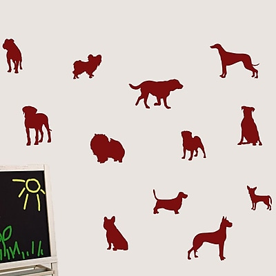 SweetumsWallDecals Dog Wall Decal; Cranberry