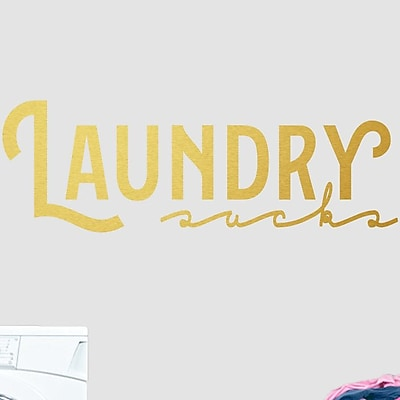 SweetumsWallDecals Laundry Wall Decal; Gold