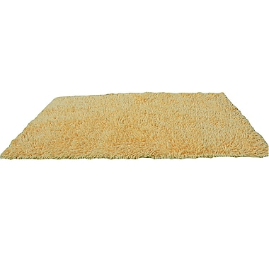 Tache Home Fashion 100pct Cotton Butter Yellow Area Rug; 2' x 3'