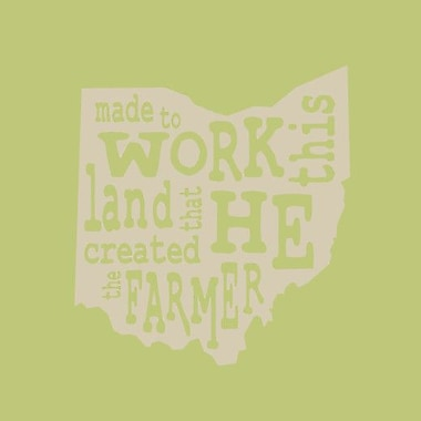 SweetumsWallDecals 'The Farmer Ohio' Wall Decal; Beige