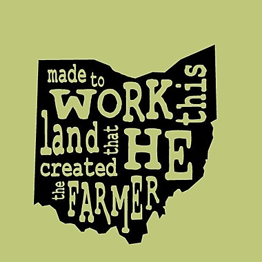 SweetumsWallDecals 'The Farmer Ohio' Wall Decal; Black