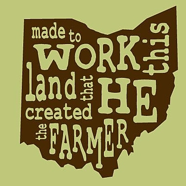 SweetumsWallDecals 'The Farmer Ohio' Wall Decal; Brown