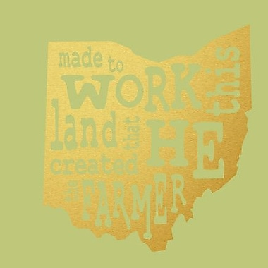 SweetumsWallDecals 'The Farmer Ohio' Wall Decal; Gold