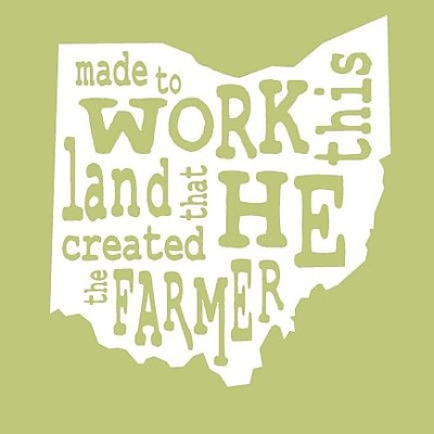 SweetumsWallDecals 'The Farmer Ohio' Wall Decal; White