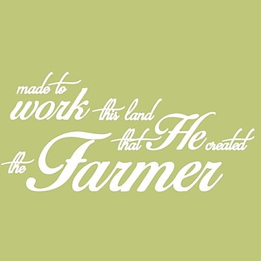 SweetumsWallDecals 'The Farmer Quote' Wall Decal; White