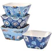 Certified International Indigold 4 Piece Ice Cream Dessert Bowl Set