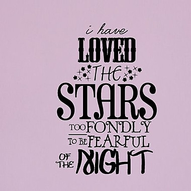 SweetumsWallDecals 'I Have Loved the Stars Too Fondly' Wall Decal; Black