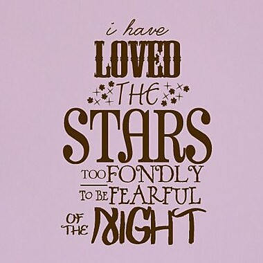 SweetumsWallDecals 'I Have Loved the Stars Too Fondly' Wall Decal; Brown