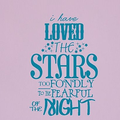SweetumsWallDecals 'I Have Loved the Stars Too Fondly' Wall Decal; Teal