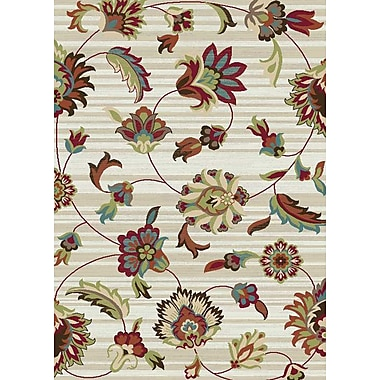 Mayberry Rug Brighton Ivory/Red Area Rug; 7'10'' x 9'10''