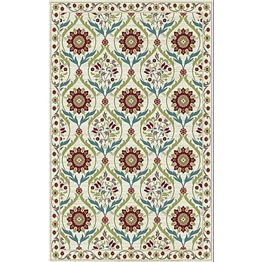 Mayberry Rug Brighton Cream/Red Area Rug; 5'3'' x 7'3''