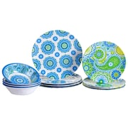 Certified International Boho 12 Piece Heavy Weight Melamine Dinnerware Set