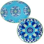 Certified International Granada Heavy Weight Melamine 2 Piece Platter Set