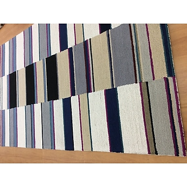 Eastern Weavers Hand-Woven Ivory/Navy Blue Area Rug; 5' x 8'