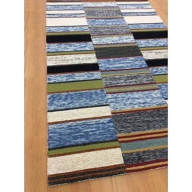 Eastern Weavers Hand-Woven Ivory/Blue Area Rug; 5' x 8'
