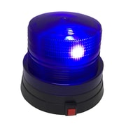 Creative Motion Battery Operated Police Beacon Light w/ Flashing Bright LED; Blue