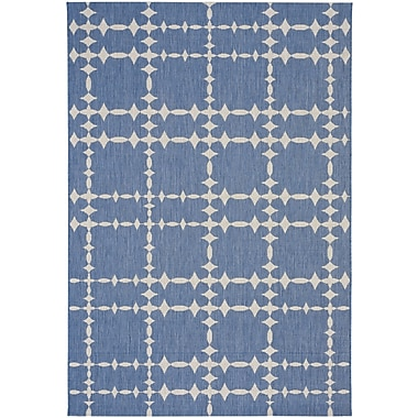 Capel COCOCOZY Elsinore Tower Court Blueberry Indoor/Outdoor Area Rug; 3'11'' x 5'6''