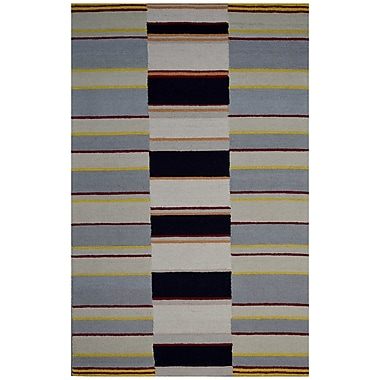 Eastern Weavers Hand-Woven Ivory/Gray Area Rug; 5' x 8'