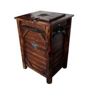 LeighCountry Char-Log 33 Gallon Manual Wood Trash Can