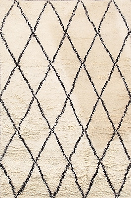 Pasargad Casa Milano Moroccan Hand-Woven Ivory Area Rug
