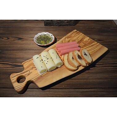 Pomegranate Solutions Plank Olive Wood Cutting Board; 19'' L x 7.5''W x 1''D