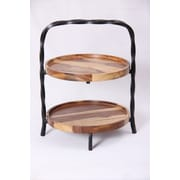 Oak Idea Acorn Wood Tiered Stand