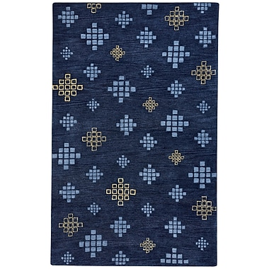 Capel Geneva Hand-Tufted Blue Blond Area Rug; 8' x 10'