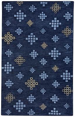Capel Geneva Hand-Tufted Blue Blond Area Rug; 9' x 12'