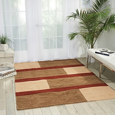 Red Barrel Studio Aviston Hand-Tufted Red/Beige Area Rug; 11' x 8'