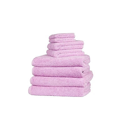 The St. Pierre Home Fashion Collection Graccioza Long Double Loop 6 Piece Towel Set; Deep Lilac